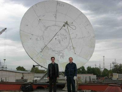 Монтаж спутниковой антенны 4,8 метра для приема сервиса InSat в Красноярске