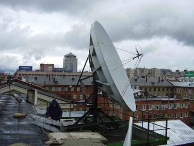 Модернизация спутниковой антенны 4,8 м в Перми